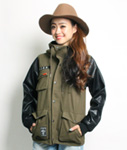 LIL MURAL(リルミューラル)/ M-65 HOOD JACKET -BASIC- -2.COLOR- -Lady's-