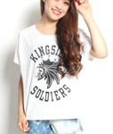 LIL MURAL(リルミューラル)/ × KINGSIZE KINGSIZE SOLDIERS T-SHIRT -2.COLOR- -Lady's-