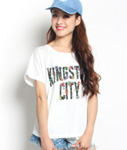 LIL MURAL(リルミューラル)/ × kette BLOOM KINGSTON CITY T-SHIRT -2.COLOR- -Lady's-