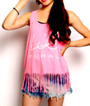 LIL MURAL(リルミューラル)/ LIL FRINGE TANK TOP -5.COLOR- -Lady's-