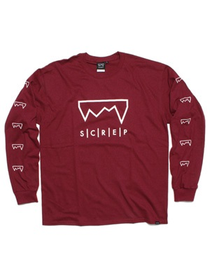 SCREP(スクレップ)/ GRAPPLE L/S T-SHIRT -BURGUNDY-