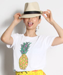 Tome2H(トミトエイチ)/ SUMMER FRUIT T-SHIRT -2.COLOR- -Lady's-