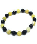 4BLY(フォーブライ)/ CRACK STONE BRACELET -YELLOW-