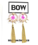 BOW(ボウ)/ CHAIN TASSEL PIERCE -2.COLOR- -Lady's-