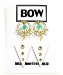 BOW(ボウ)/ SUN DROP PIERCE -BLUE- -Lady's-