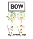 BOW(ボウ)/ SUN DROP PIERCE -2.COLOR- -Lady's-
