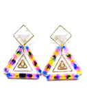 BOW(ボウ)/ COLORFUL TRIANGLE PIERCE -2.COLOR- -Lady's-