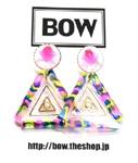 BOW(ボウ)/ COLOFUL TRIANGLE -PINK- -Lady's-