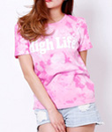 High Life(ハイライフ)/ HIGHLIFE LOGO TIE-DYE T-SHIRT×JAVARA -3.COLOR- -Lady`s-