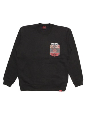MURAL(ミューラル)/ NATIVE POCKET CREW SWEAT -2.COLOR-