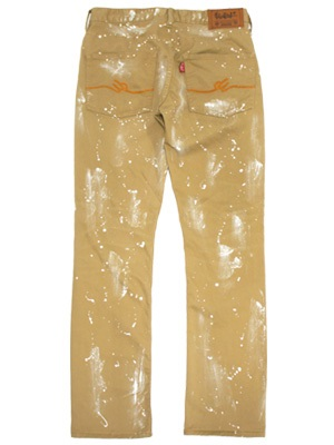 MURAL(ミューラル)/ PAINT DENIM PANTS -BEIGE-