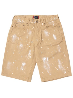 MURAL(ミューラル)/ PAINT DENIM SHORTS -BEIGE-