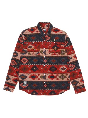 LIL MURAL(リルミューラル)/ NATIVE M FLOWING L/S SHIRT -2.COLOR- -Lady's-
