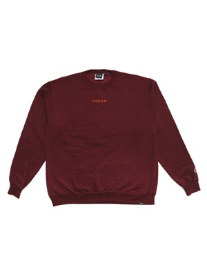 SCREP(スクレップ)/ S|C|R|E|P EMBROIDERY CREW SWEAT -COLOR- -2.COLOR-