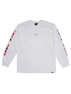 SCREP(スクレップ)/ NATIONAL FLAG L/S T-SHIRT -2.COLOR-
