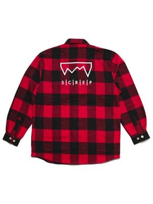 SCREP(スクレップ)/ BLOCK CHECK SHIRT -4.COLOR-