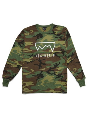 SCREP(スクレップ)/ GRAPPLE CAMO L/S T-SHIRT -3.COLOR-