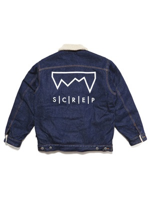 SCREP(スクレップ)/ DENIM BOA JACKET -DENIM-