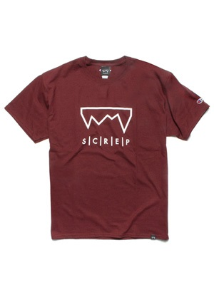 SCREP(スクレップ)/ GRAPPLE T-SHIRT -MAROON-