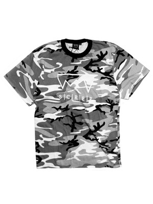 SCREP(スクレップ)/ GRAPPLE CAMO T-SHIRT -BLACK-