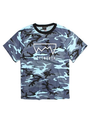 SCREP(スクレップ)/ GRAPPLE CAMO T-SHIRT -BLUE-