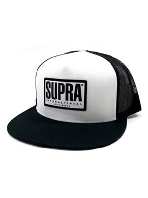 SUPRA(スープラ)/ TRI-BLOCK TRICKER B CAP -BLACK×WHITE-