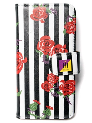 Tome2H(トミトエイチ)/ ROSES STRIPES iPhone CASE (DIARY) -3.COLOR- -Lady's-