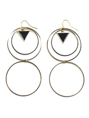 BOW(ボウ)/ DOUBLE HOOP PIERCE -GOLD- -Lady's-