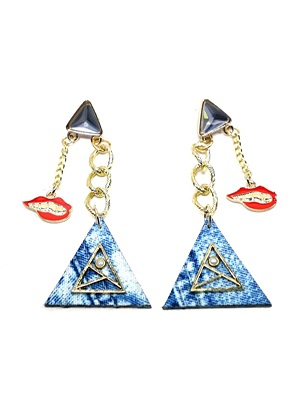 BOW(ボウ)/ TRIANGLE CHAIN PIERCE -Lady's-