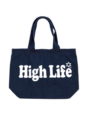 High Life(ハイライフ)/ MAIN LOGO DENIM TOTE BAG -2.COLOR-