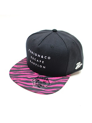 7UNION(セブンユニオン)/ THE ESCAPE BABYLON ZEBRA SNAPBACK CAP -BLACK-