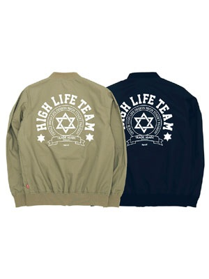 High Life(ハイライフ)/ HIGHLIFE TEAM STUDIUM JACKET -2.COLOR- -Lady's-