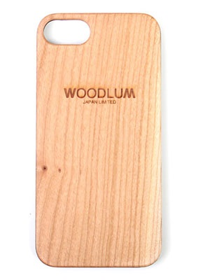 WOODLUM(ウッドラム)/ REAL WOOD LOGO IPHONE CASE