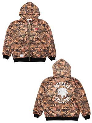 MURAL(ミューラル)/ LEAVES ZIP HOODY