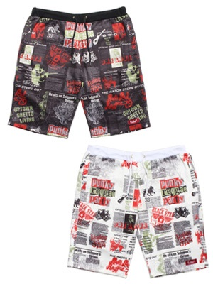 MURAL(ミューラル)/ NEWS PAPER SWEAT SHORTS