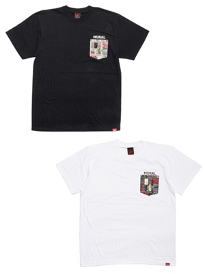 MURAL(ミューラル)/ NEWS PAPER POCKET T-SHIRT