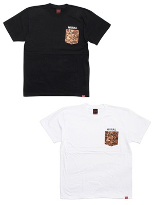 MURAL(ミューラル)/ LEAVES POCKET T-SHIRT