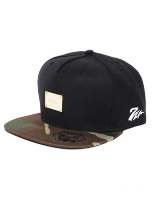 MURAL(ミューラル)/ PLATE STRAP BACK CAP(BASIC) -BLACK×CAMO-
