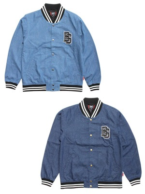 LIL MURAL(リルミューラル)/ DENIM STADIUM JACKET -2.COLOR- -Lady's-