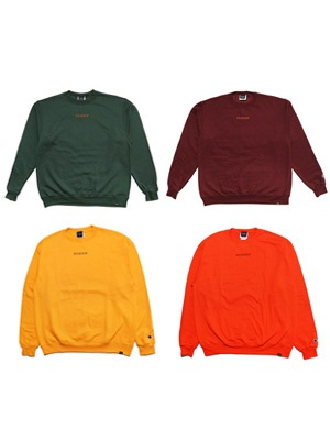 SCREP(スクレップ)/ EMBROIDERY CREW SWEAT -COLOR-