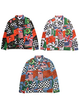 SCREP(スクレップ)/ FLAG TRUCKER JACKET
