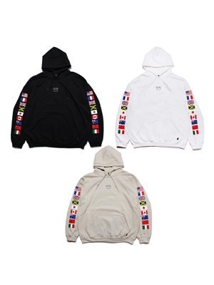 SCREP(スクレップ)/ NATIONAL FLAG HOODY