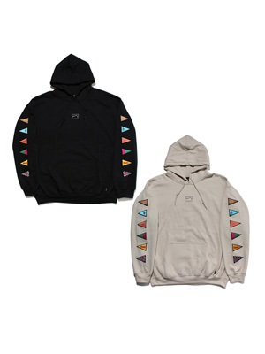 SCREP(スクレップ)/ TRIANGLE FLAG SLEEVE HOODY
