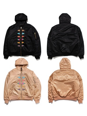 SCREP(スクレップ)/ TRIANGLE FLAG MA-1 JACKET
