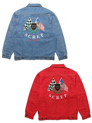 SCREP(スクレップ)/ FLAG TRUCKER DENIM JACKET -2.COLOR-