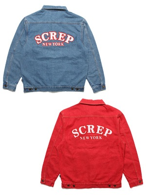 SCREP(スクレップ)/ APPLIQUE TRUCKER DENIM JACKET -2.COLOR-