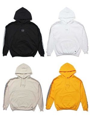SCREP(スクレップ)/ CHECKER TAPE HOODY -4.COLOR-