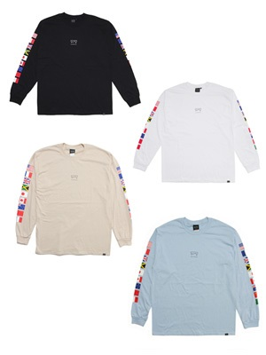 SCREP(スクレップ)/ NATIONAL FLAG L/S T-SHIRT