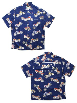 SCREP(スクレップ)/ GRAPPLE ALOHA SHIRT -B(MOTORCYCLE)-