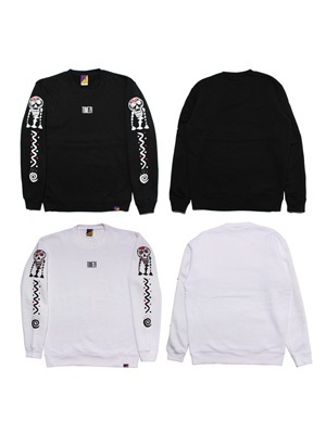 Tome2H(トミトエイチ)/ SKULL SLEEVE SWEAT -Lady's-